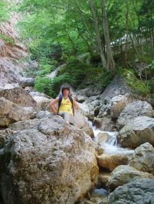 Giacomo nei pressi del torrente