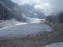 il ghiacciaio come appare dalla forcella