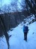 Max sul sentiero per Campo Solagna